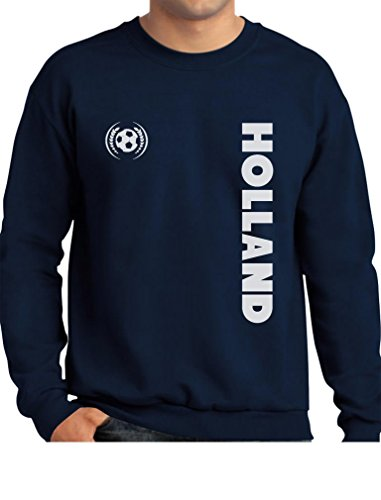 Tstars TeeStars - Holland National Football Team The Netherlands Soccer Fans Sweatshirt XX-Large Navy