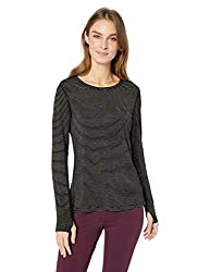 Amazon Essentials Women S Studio Long Sleeve Lightweight T Shirt Black Stripe Large