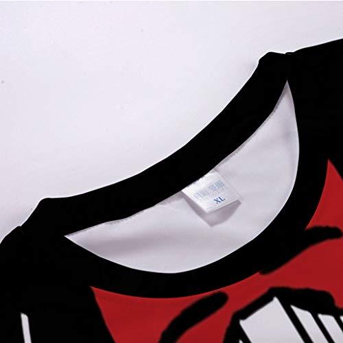Chemise Irréguliermanches Gladdon shirtcoton Western Avec T Motif Chemisier T shirt Estival Casual Noir Tricot Homme Manches Polo Ultra À Confortable En Pour Courtes ZaZOn