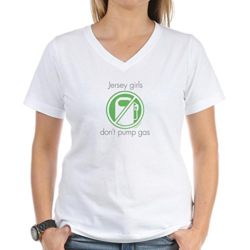 CafePress - Jersey Girls Don't Pump Gas - Womens Cotton V-Neck (Jersey Girls Dont Pump)