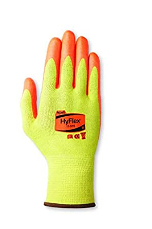 Ansell HyFlex 11-515 DuPont Kevlar Medium-Duty Cut Protection Glove with High Visibility, Abrasion/Cut Resistant, Size 6, Yellow (Pack of 12 Pair)