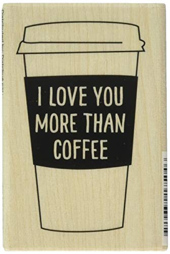 Hampton Art Coffee Mug Sentiment Hot Fudge Mounted Stamp 2