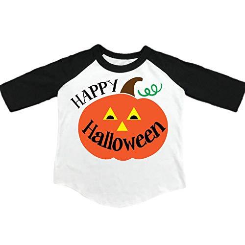(Toddler Kids Baby Halloween Costums,Boy Girl Autumn Winter Pumpkin Long Sleeve T-Shirt Tops Outfit Shirt,1-6 Years)