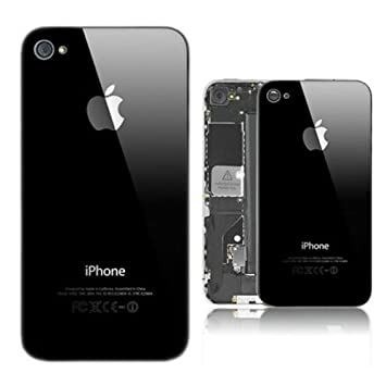 iDigital - Tapa Trasera para iPhone 4 (Cristal), Color Negro ...