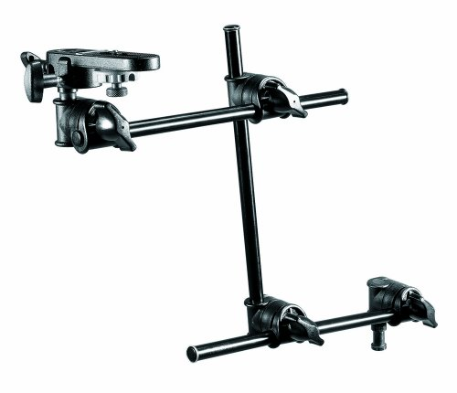 Manfrotto 196B-3 143BKT 3-Section Single Articulated Arm with Camera Bracket (Black) by Manfrotto