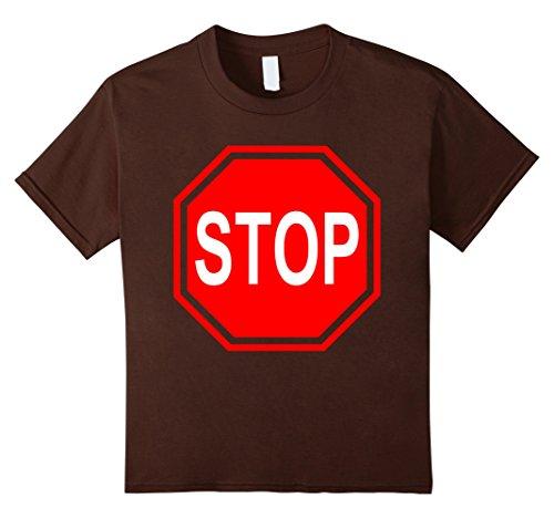 Kids stop sign last minute easy simple halloween costume t-shirt 8 (Simple Last Minute Halloween Costumes)