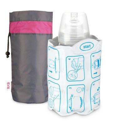 Lovi 19/400 térmico Thermogel calienta biberones para viajes Grau / Rosa