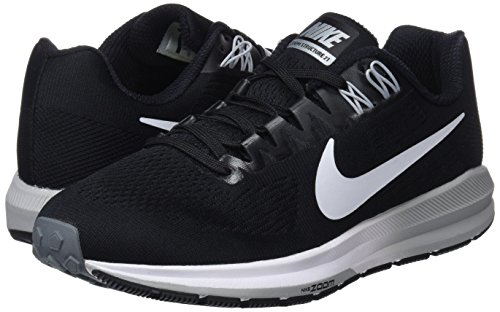 Nike Grey Running De 001 Zoom Grey black wolf Mujer cool Structure Para W white 21 Zapatillas Negro Air rwfrqxS