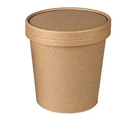 45027dd48d02 Amazon.com: Prosafe SafePro 16 Oz. Kraft Paper Soup Cup with Vented ...