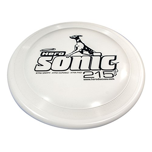 Hero Sonic Xtra 215 Distance Flying Dog Sport Disc – (white)