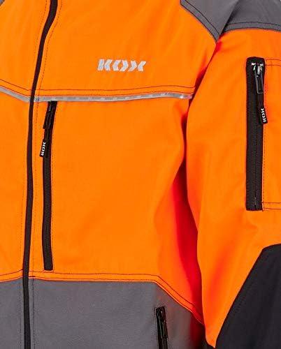 Gr/ö/ße M KOX Duro 2.0 Forstjacke Grau//Orange
