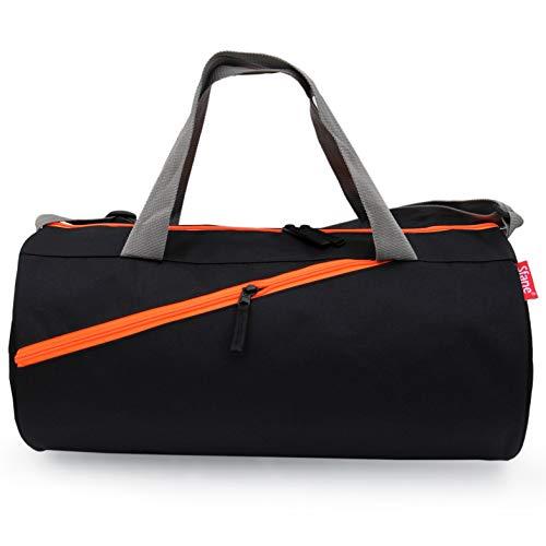 Sfane Black Polyester Men  amp; Women Trendy Duffel Gym Bag