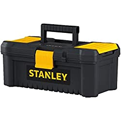 """Stanley Tools and Consumer Storage STST13331 Essential Toolbox, 12.5"""", Black/Yellow"""