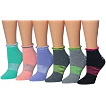 Ronnox Womens Cushioned Anti-Skid Non-Slip Silicone-Gripper Socks, For Yoga