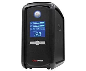 CyberPower Intelligent LCD CP1000AVRLCD 1000VA UPS 1000VA/600W - 8 Minute Half Load - 5 x NEMA 5-15R - Battery/Surge-protected, 4 x NEMA 5-15R - Surge-protected