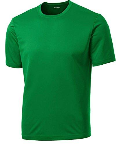 DRIEQUIP Men's Short Sleeve Moisture Wicking Athletic ()