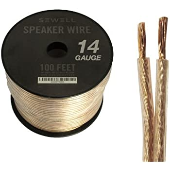 Amazon.com: Cables Unlimited 25 Feet 14AWG Speaker Wire with 4 Pins ...