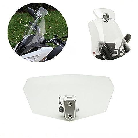 Adjustable Deflector Windscreen Windshield Spoiler for Yamaha BMW R1200GS Honda Suzuki Kawasaki Universal - Parabrezza Spoiler