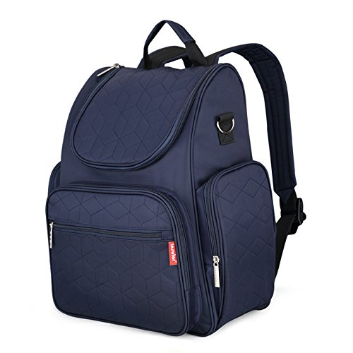 Diaper Backpack Bag with Stroller Straps Multi-Function Waterproof Travel Backpack Nappy Bags for Baby Care, Large Capacity, FashionStylish and Durable, Dark Blue (DARK BLUE)