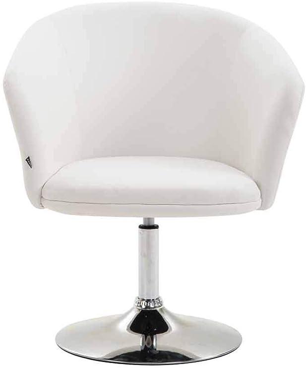 Colore:Rosso CLP Sedia Lounge Girevole Dublin in Similpelle I Poltroncina Design Chester Altezza Regolabile I Sedia con Braccioli Imbottita