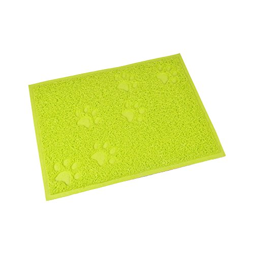 CODICO 6tap002vc Cat Litter Box Mat Paw Print Rectangle