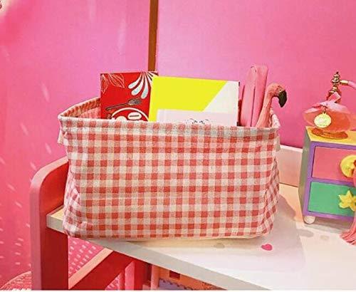 Guter Helfer Baumwollspeicher-Korb-kosmetischer Rückstand-Speicher-Korb-Spielzeug-Speicher Box_Small Rosa PvxgIo