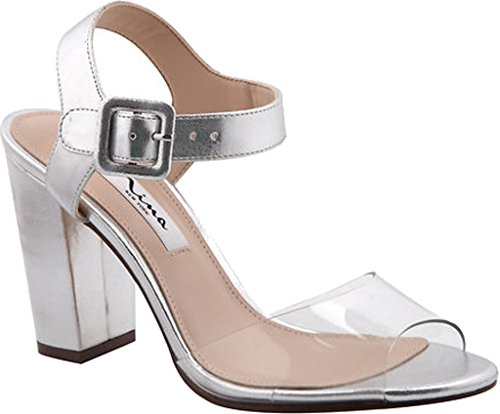 Nina Talons Shirley silver Synthétique Clear ggAzUP