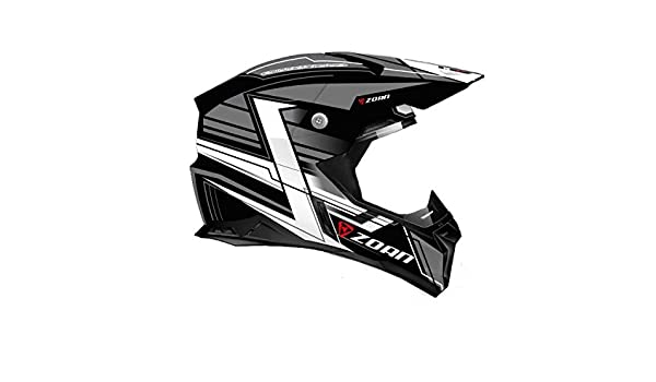 Amazon.es: Zoan cascos sincronía MX carrera Equipe soporte de plata ATV Offroad motocicleta casco medio