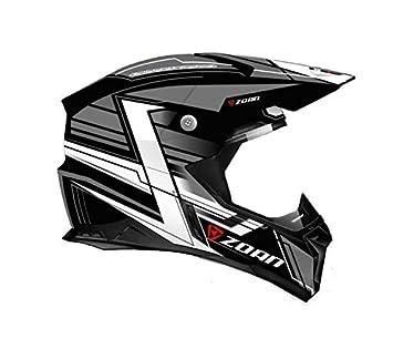 Zoan cascos sincronía MX carrera Equipe soporte de plata ATV Offroad motocicleta casco medio