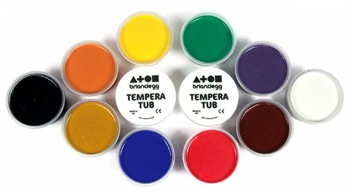 Tempera Paint Set - 12 x 70ml Tubs in Assorted Colours: Amazon.co ...