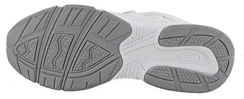 Dr. Scholl's - Herren Brisk Leichtgewicht Dual Strap Sneaker, Breite Weiß grau