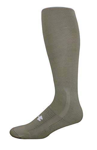 Under Armour Men's Heatgear Boot Socks (1-Pack) LG  (Men's Shoe 9-12.5),Foliage Green