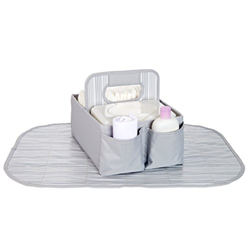 Sara Bear Diaper Caddy - Gray