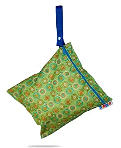 Bummis Fabulous Wet Diaper Bag, Green, Medium