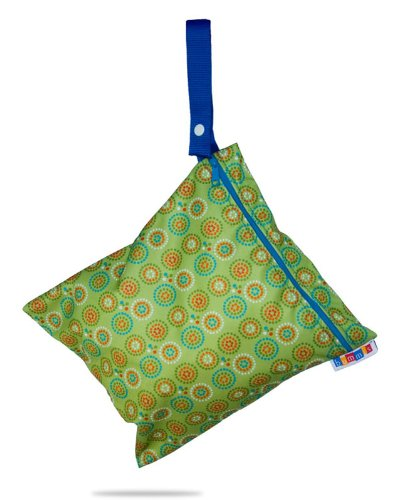 Bummis Fabulous Wet Diaper Bag, Green, Medium, Bags Central