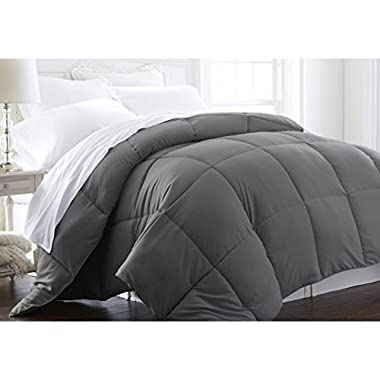Beckham Hotel Collection - Lightweight - Luxury Goose Down Alternative Comforter - Hotel Quality Comforter and Hypoallergenic  -Full/Queen - Gray
