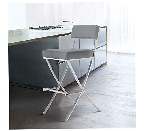Vegas Stools Las Padded Bar - Wood & Style Furniture Vega Barstool, Grey Home Office Commerial Heavy Duty Strong Décor