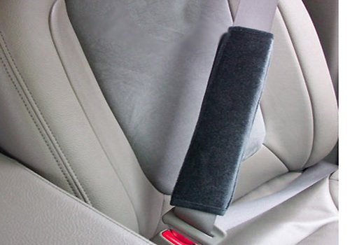 Coverking Velour Seatbelt Cushion - Gray - M2V3