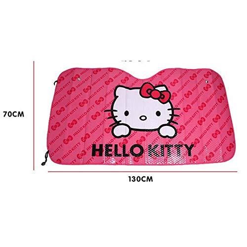 Aliaoforz Parasol Reflectante para Parabrisas de Coche con dise/ño de Hello Kitty
