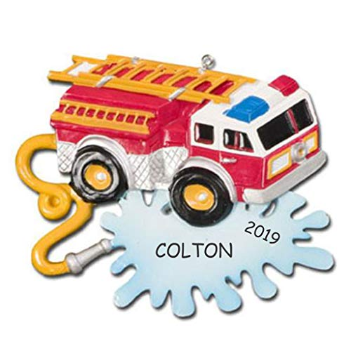DIBSIES Personalization Station Personalized Truck Kids Christmas Ornament (Firetruck)