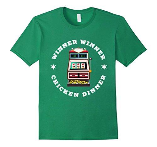 - Mens WINNER, WINNER, CHICKEN DINNER T-Shirt slot machine gambling Medium Kelly Green