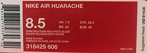 Black Air Red Kunstleder Huarache Textil Leder Herren Sneaker NIKE Rot Team White Rot pw756qv