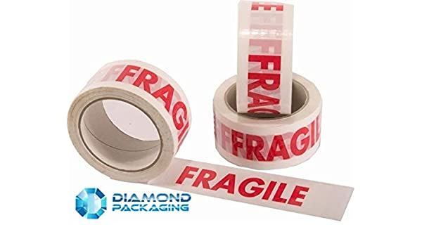 3 Rolls of LOW NOISE FRAGILE TAPE 48mm x 66M LONG LENGTH PACKING PARCEL TAPE