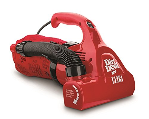 - Dirt Devil Hand Vacuum Cleaner Ultra Corded Bagged Handheld Vacuum M08230RED