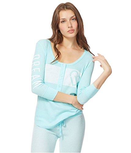 Aeropostale Womens Logo Thermal Henley Shirt 497 S - Juniors ()