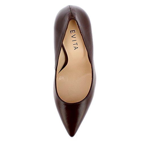 Evita Shoes Alina - Zapatos de vestir de Piel para mujer marrón oscuro
