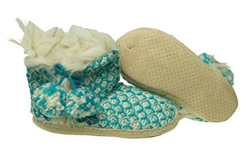 11 Knit US M Jenni Slippers Bootie Women's X Size Large Aqua 12 58aqaZPw
