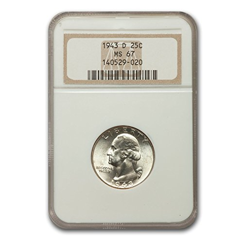 1943 D Washington Quarter MS-67 NGC Quarter MS-67 NGC
