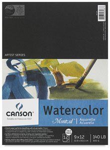 Price comparison product image Canson Montval Watercolor Pad,  Cold Press Acid Free French Paper,  Fold Over,  140 Pound,  15 x 20 Inch,  12 Sheets
