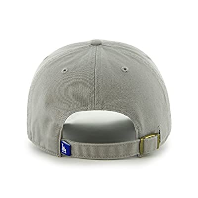 MLB Los Angeles Dodgers '47 Brand Clean Up Adjustable Cap, One Size, Gray
